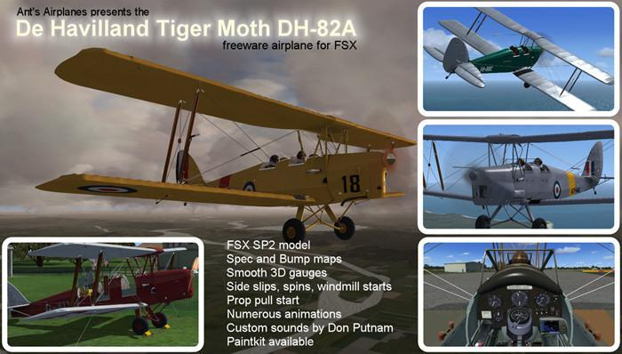 Ants De Havilland Tiger Moth Version 1.1 FSX
