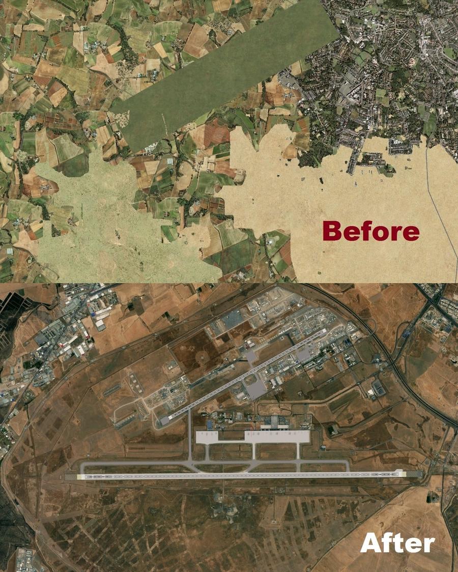 Erbil Intl Airport ORER 2021 before after