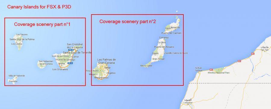 Mapa Canàries completa