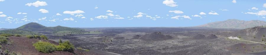 Craters of the Moon National Monument from Inferno Cone
