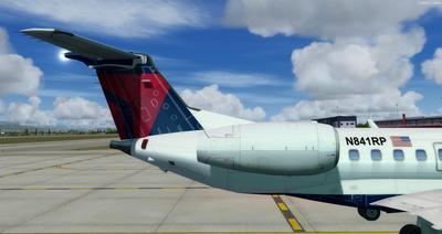 Embraer ERJ 135 daudzkrāsains FSX P3D  10