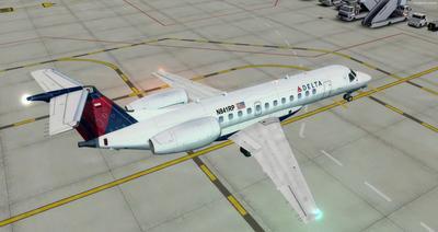Embraer ERJ 135 daudzkrāsains FSX P3D  11