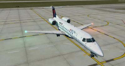 Embraer ERJ 135 daudzkrāsains FSX P3D  12