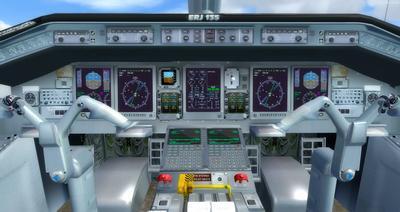 Embraer ERJ 135 daudzkrāsains FSX P3D  21