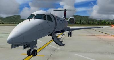 Embraer ERJ 135 daudzkrāsains FSX P3D  3