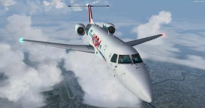 Embraer ERJ 135 daudzkrāsains FSX P3D  36