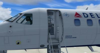 Embraer ERJ 135 daudzkrāsains FSX P3D  7