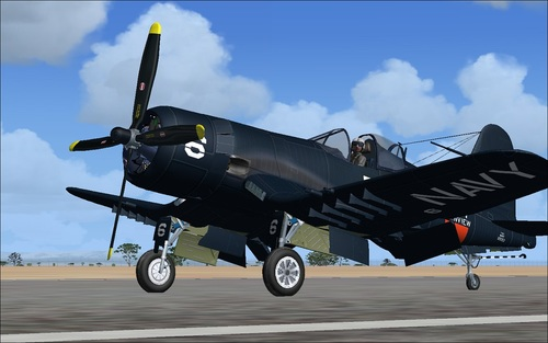 Chance Vought F4U-6 dan 7 Corsair FSX  &  P3D