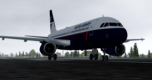 Airbus A320-232 hauv British Airways Landor FSX  &  P3D
