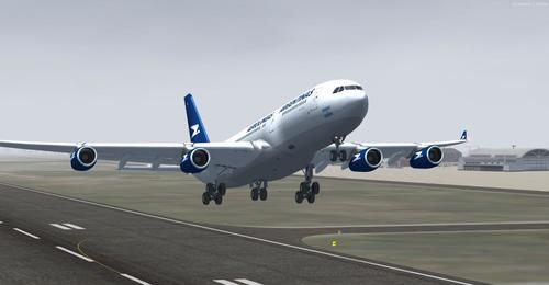 Airbus A340-200 Aerolineas Argentinas FSX  &  P3D