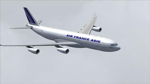 Airbus A340-200 Air France Azija FS2004
