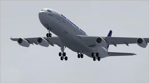 Airbus A340-200 Air France Asie FS2004