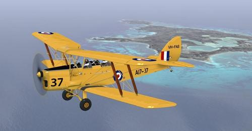 කුහුඹුවන් ඩි හැවිලන්ඩ් ටයිගර් සලබයා DH-82A v1.1 FSX