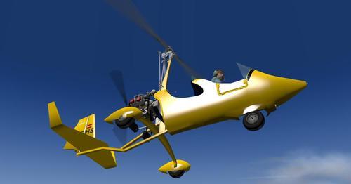 オートジャイロELA07-S X-Plane  10