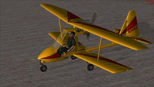 Авиатика MAI-890 Ultralight Biplane FSX-SP2-Ac