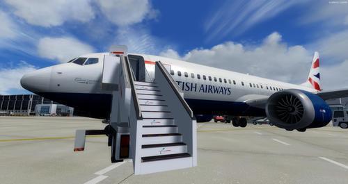 Boeing 737-MAX8 daudzfunkcionāls FSX  &
