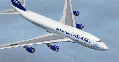 Boeing 747-400 Αερολιμένας Αργεντινής FSX
