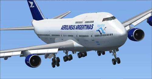 Boeing 747-400 Aerolineas Argentinas FSX