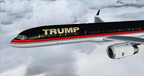 Boeing 757-200 Donald Trump (Trump Force Daya) FSX  &  P3D