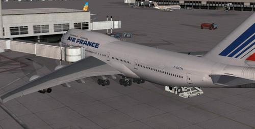 โบอิ้ง B747-443 Advanced VC FSX  &  P3D
