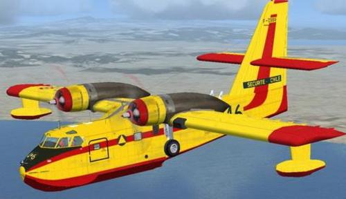 Bombardiere Canadair CL-215 FSX  &  P3D