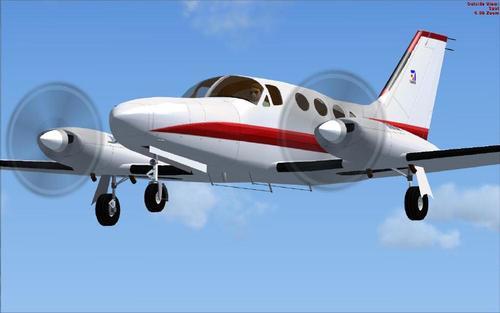 Cessna 414A ቻንስለር PAD FS2004