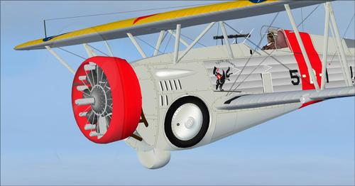 Curtiss Hawk III 68 a BF2C-1 FSX