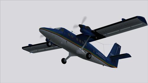 DHC-6 lengri nef Hawaiian International FS2004
