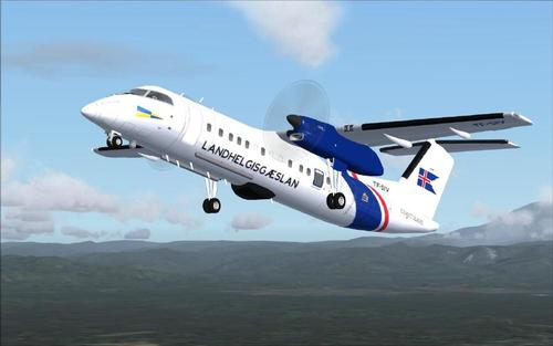 Dehavilland Bombardier Dash8-Q311 - Islandes Coast Guard FS2004