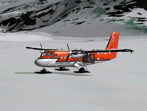 De Havilland DHC-6-300 akan skis FSX