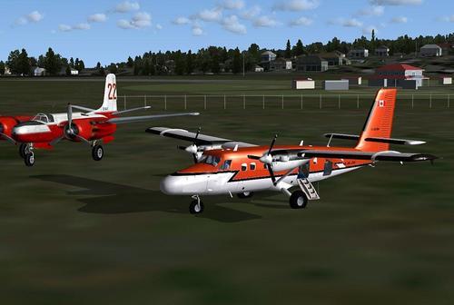 De Havilland DHC-6-300 ສຸດ skis FSX