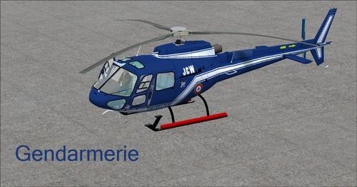 ユーロコプターAS350-BA Fspainter Complete FSX  &  P3D