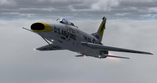 أمريكا الشمالية F-100C سوبر صابر CWDT FSX  &  P3D