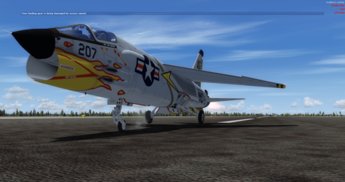F-8 Vought Crusader FSX  &  P3D