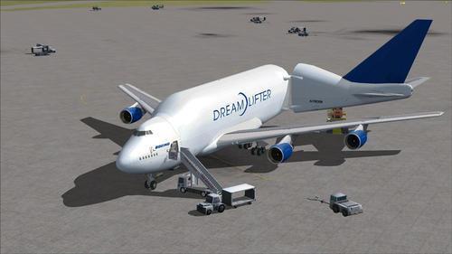 FSP බෝයිං 747-400LCF ඩ්රීම්ලිෆ්ටර් FSX