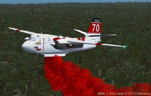 Grumman S2 Turbo California Dept of Forest FSX  &  P3D