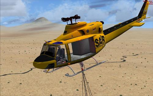 Bell HC412 Bambi Bucket No Doors FSX