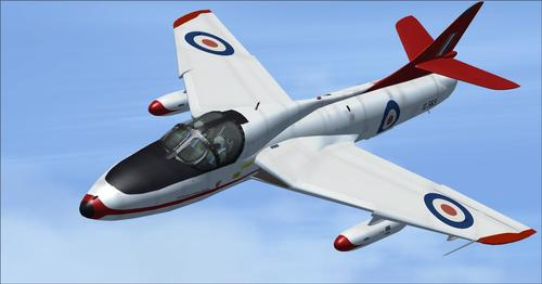 Hawker Hunter treneri FSX  &  P3D