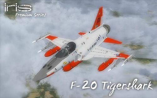IRIS F-20 ටයිගර්ෂාර්ක් FSX  &  P3D