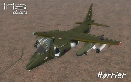 አይሪስ Harrier GR9 GR7 FS2004