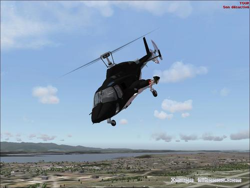 Supercopter AIRWOLF (TV) Bell 222 FS2004