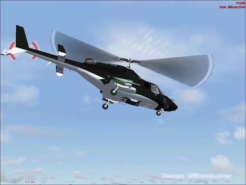 Supercopter AIRWOLF (TV) බෙල් 222 FS2004