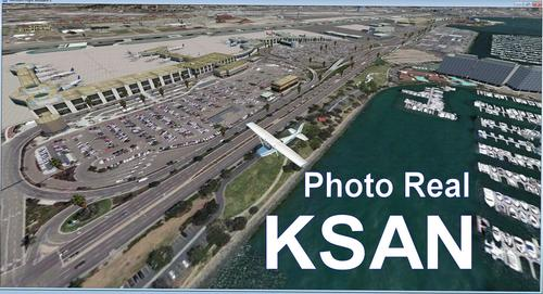 KSAN San Diego Photo Real Scenery FSX  &  P3D