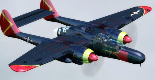 Northrop P-61C Black mpitondratena 93