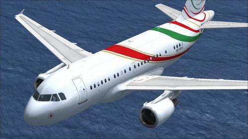 PA ဆိုပြီးအဲယားဘတ်စ် A318-112 CJ Elite ဆော်ဒီ RCA FSX