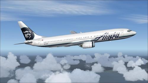 بوئینگ POSKY B737-900 خطوط هوایی آلاسکا FSX