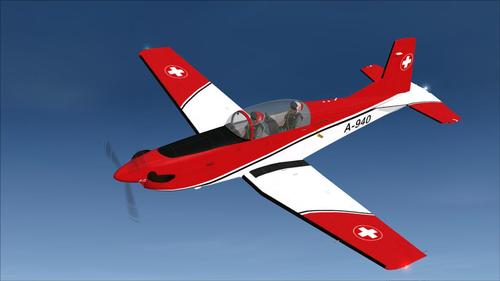 Pilatus PC-7SAF v.2 Switzerland Airforce FSX