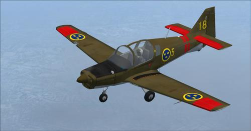 Scottish Aviation Bulldog T. MK1 Entrenatzailea FSX  &  P3D