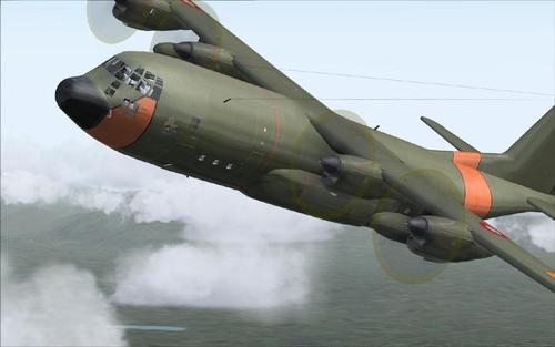 Lockheed SIMSHED C-130 Hercules RDAF FS2004