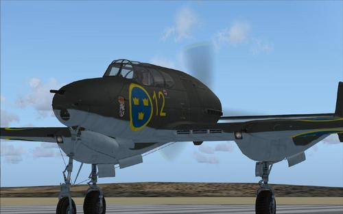 Saab J-21 Fighter nke Sweden FSX SP2